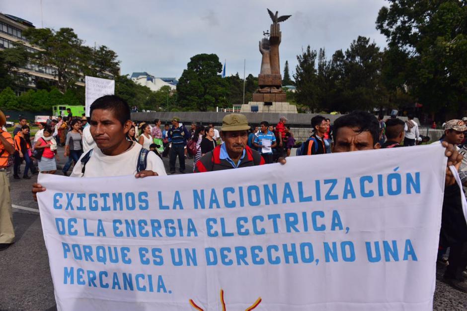Las manifestaciones generaron caos vehicular en varios puntos de la capital. (Foto: Jesús Alfonso/Soy502)
