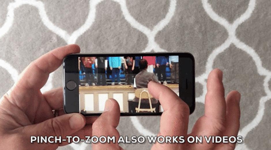 En los video también puedes hacer zoom. (Foto: giphy)