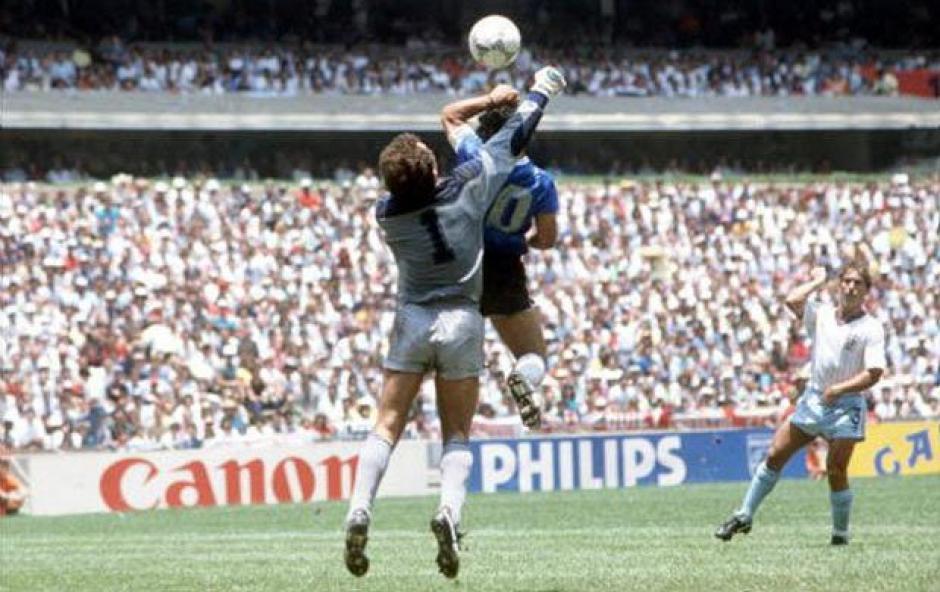 """El gol de la """"Mano de Dios"""" que sigue vigente 30 años despues. (Foto: Olé)"""
