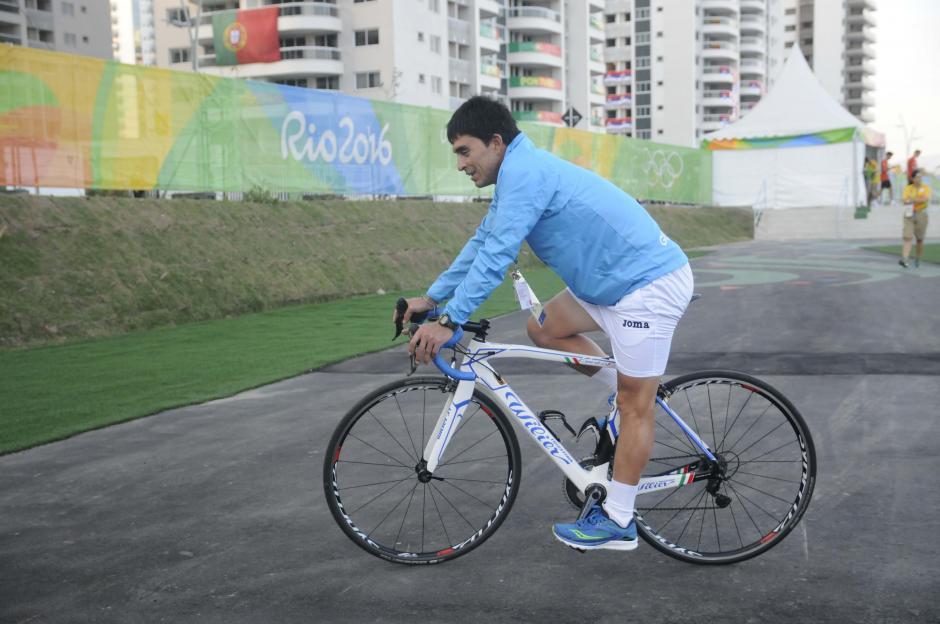El pedalista quetzalteco competirá en la prueba de ruta (254 km) en Río 2016. (Foto: Pedro Pablo Mijangos/Soy502)