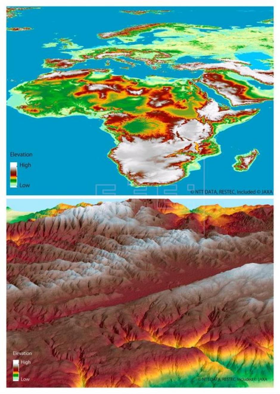 Actualmente este es el mapa en tres dimensiones más preciso de toda la superficie terrestre. (Foto: EFE)