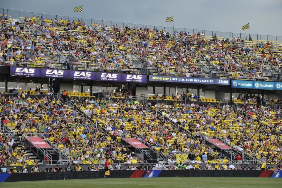 El Mapfre Stadium se viste de amarillo cada vez que es local el Columbus Crew de la MLS.