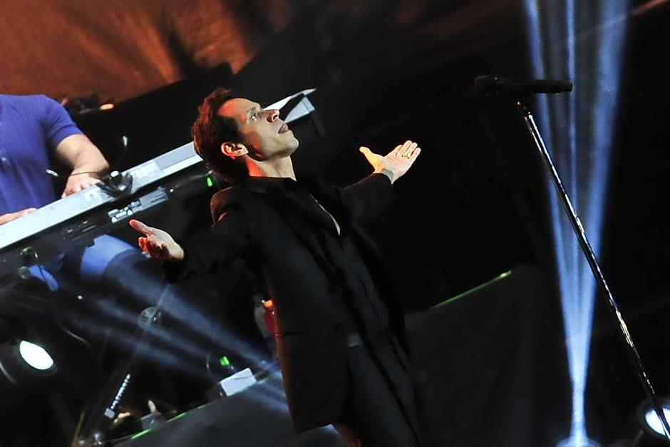 Marc Anthony fue ovacionado por los guatemaltecos en su show. (Foto: Soy502)
