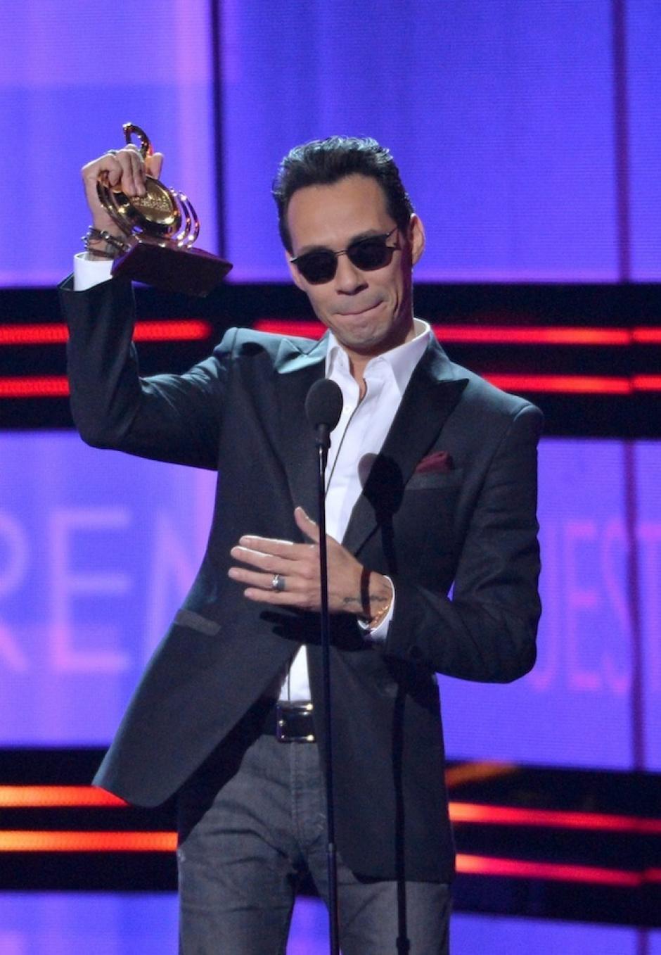 Marc Anthony fue uno de los más premiados de la noche. (Foto: Getty Images)
