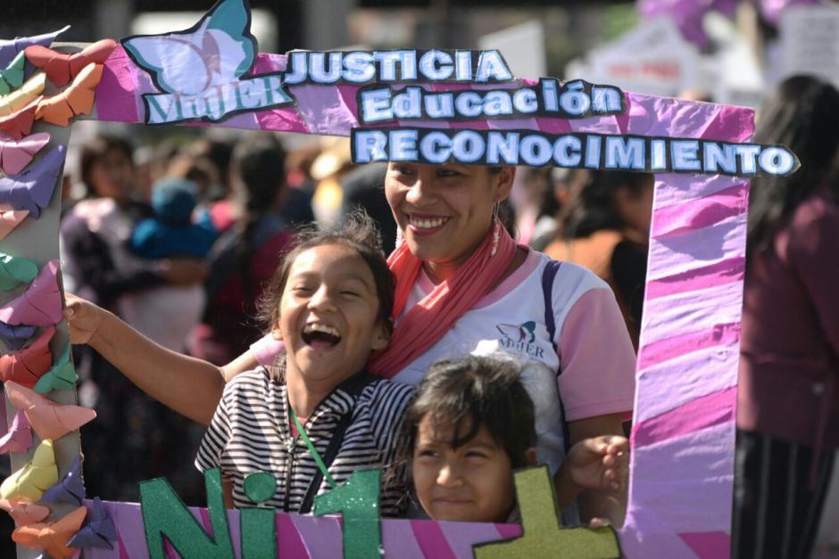 En la manifestación participaron mujeres provenientes de distintas comunidades. (Foto: Wilder López/ Soy502)