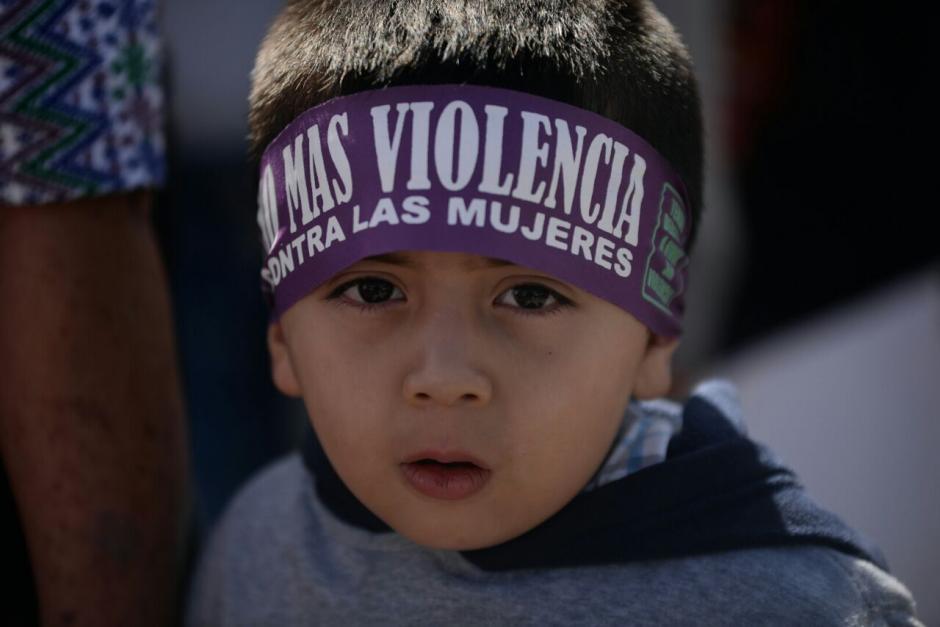 En la manifestación también participaron niños de varias edades. (Foto: Wilder López/ Soy502)