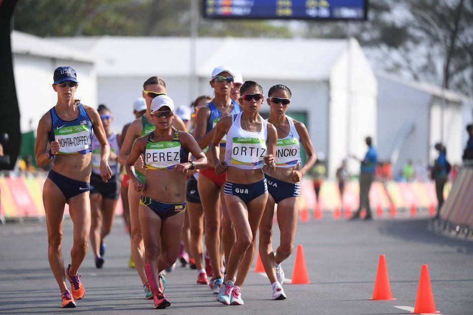 Mirna Ortiz finalizó en el puesto 30 en la prueba de 20 kilómetros marcha de Río 2016. (Foto: Aldo Martínez/Enviado de Nuestro Diario)