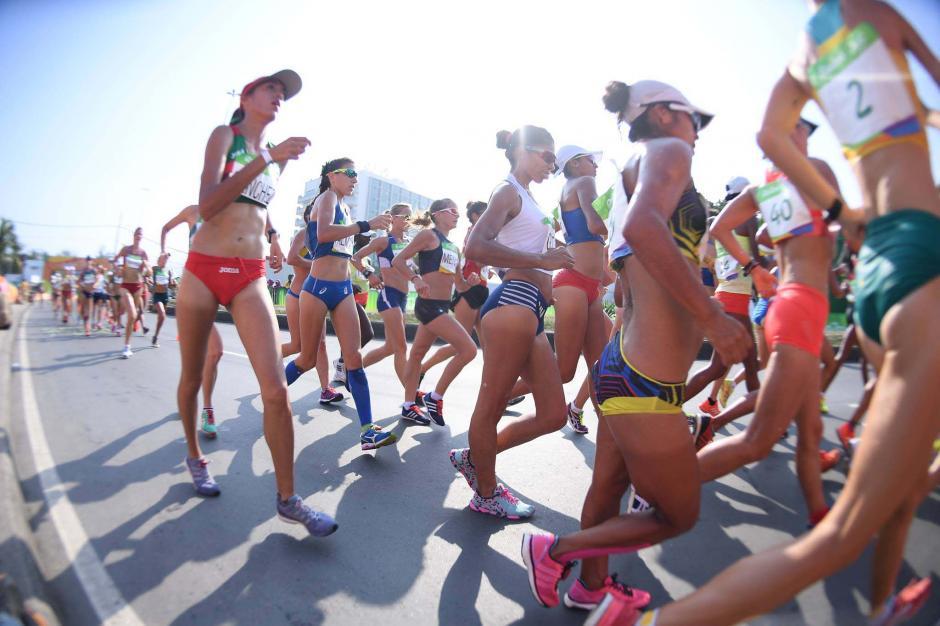 Sólo Mirna y Maritza Poncio finalizaron la prueba de los 20 kilómetros. (Foto: Aldo Martínez/Enviado de Nuestro Diario)