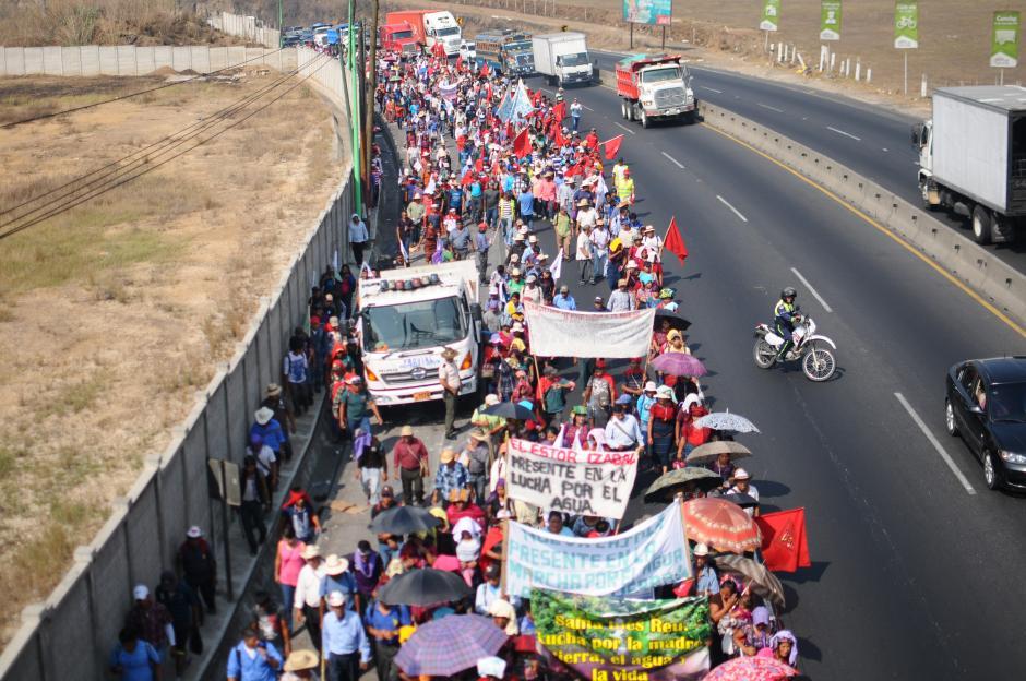 Los manifestantes vienen de Baja Verapaz, El Progreso Chiquimula y Zacapa (Foto: Alejandro Balán/Soy502)
