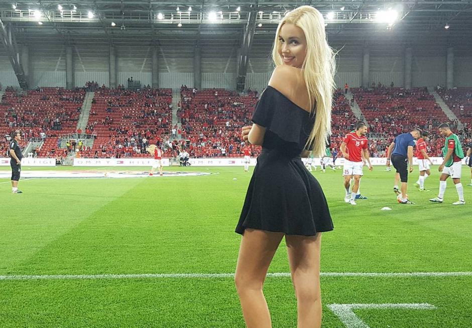 María Domark asiste con frecuencia a los partidos que disputa como local la selección de Israel. (Foto: Instagram María Domark)