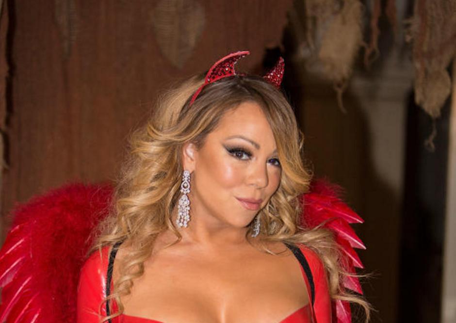 Mariah Carey decidió lucir un sexy traje para la temporada. (Foto: Quién)