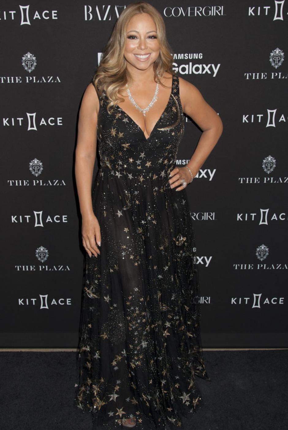 Mariah Carey no usó un conjunto muy favorecedor para esta gala. (Foto: GTRES)