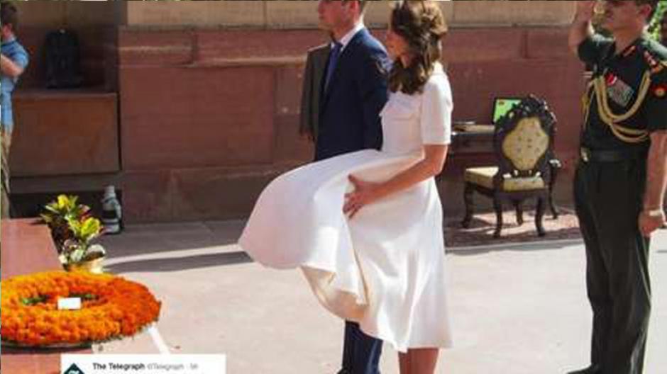 No es la primera vez que le pasa este incidente a Kate. (Foto: AFP)