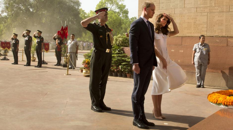 El viento no fue lo único que dio de qué hablar sobre Kate. (Foto: AFP)