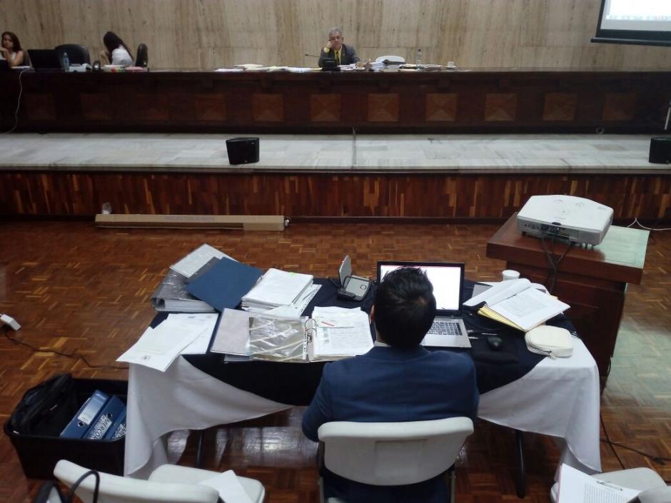 Mario Cano prestó su declaración ante el Juez. (Foto: Alejandro Balan/Soy502)
