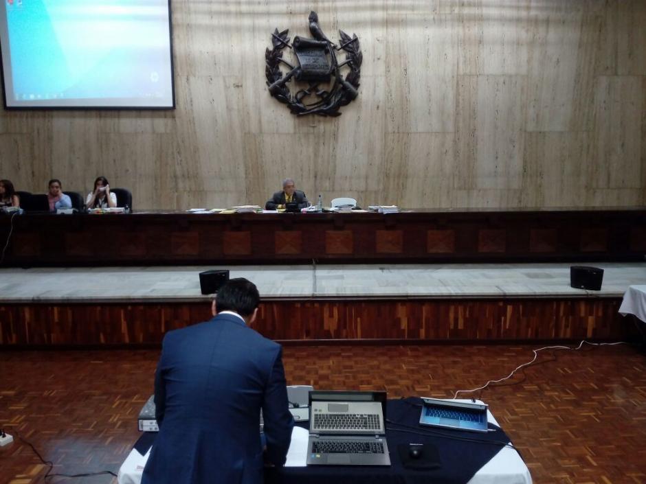 El juez Miguel Ángel Gálvez escuchó la declaración. (Foto: Alejandro Balan/Soy502)