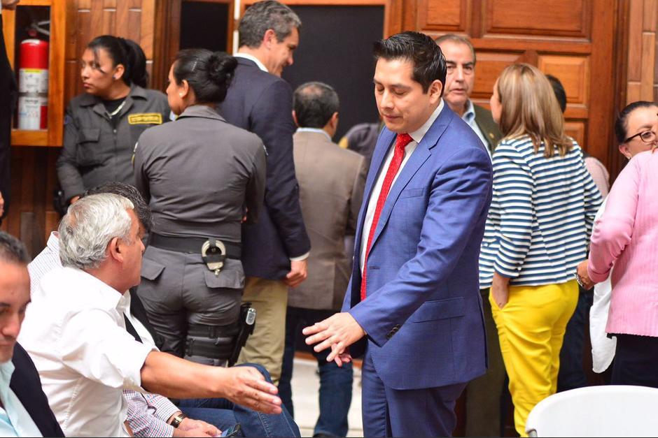 El expresidente le reclamó a Cano por su argumentación (Foto: Jesús Alfonso/Soy502)
