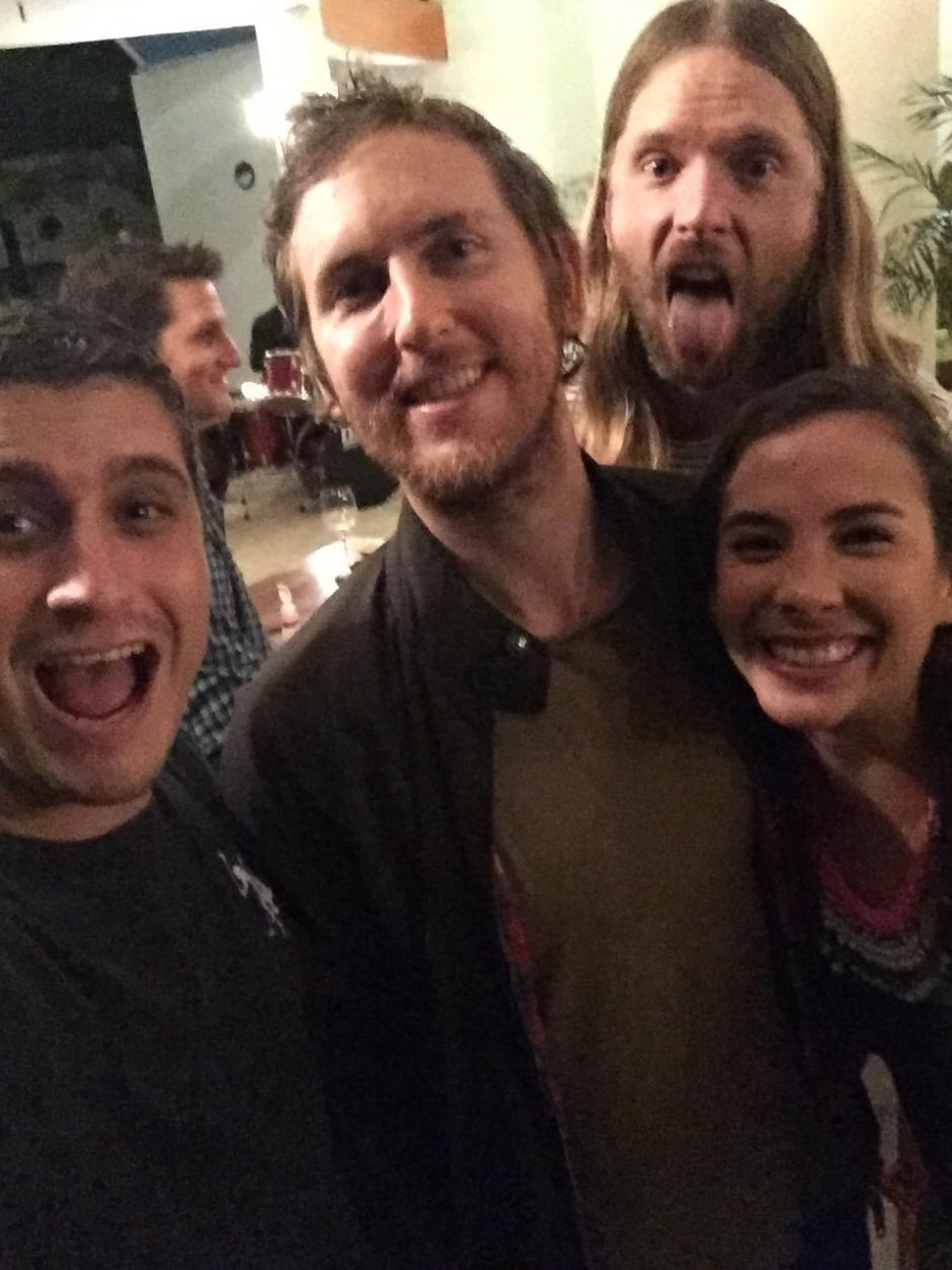 Los Maroones compartieron un momento agradable con algunos fanáticos. (Foto: Soy502)