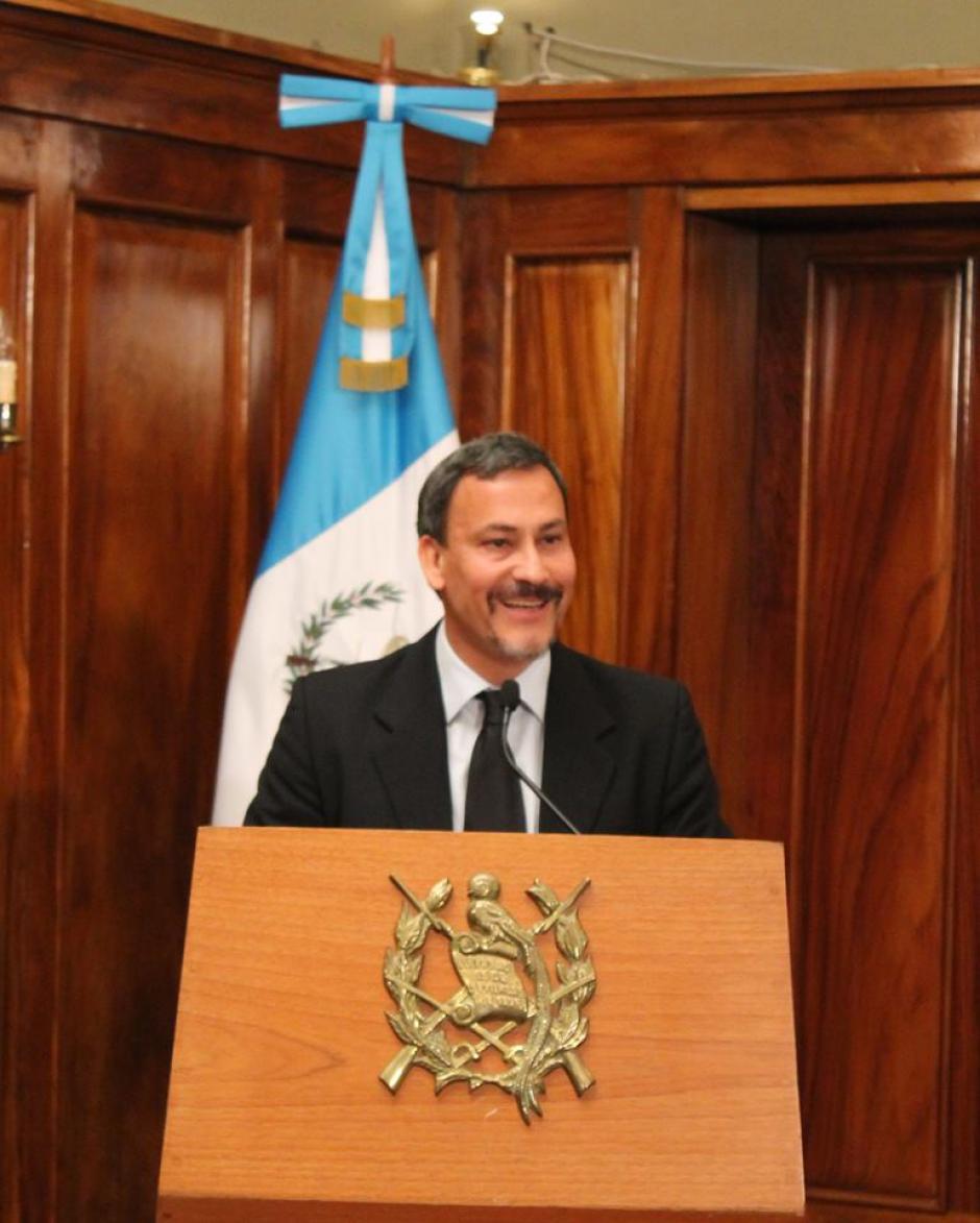 Marroquín fue nombrado por el expresidente Otto Pérez Molina. (Foto: Facebook/Allan Marroquín)