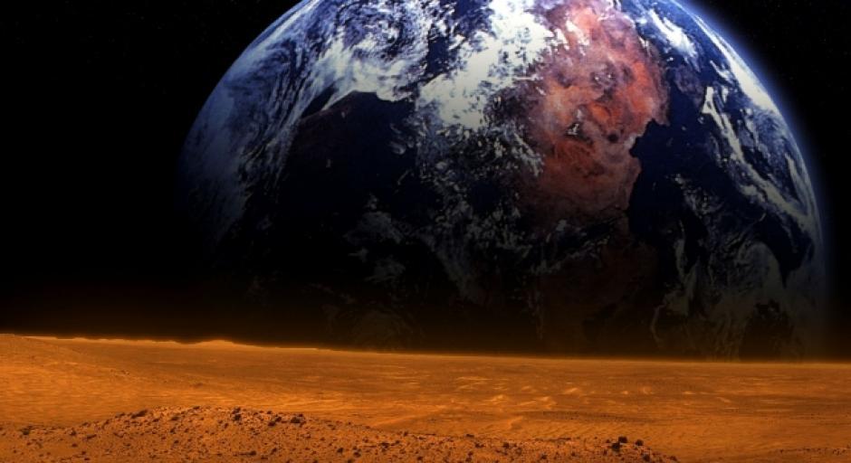 El otro fenómeno impactante será el 8 de abril. Podremos observar a Marte, el planeta rojo en todo su esplendor a través de un telescopio. A simple vista será también observable en un corto lapso, durante el atardecer. Cada dos años Marte pasa junto a nuestro planeta debido a su órbita más elíptica. (Foto: Magic Earth)