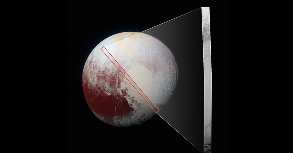 Plutón es conocido como el Planeta Enano. (Captura de pantalla: NASA.gov Video/YouTube)