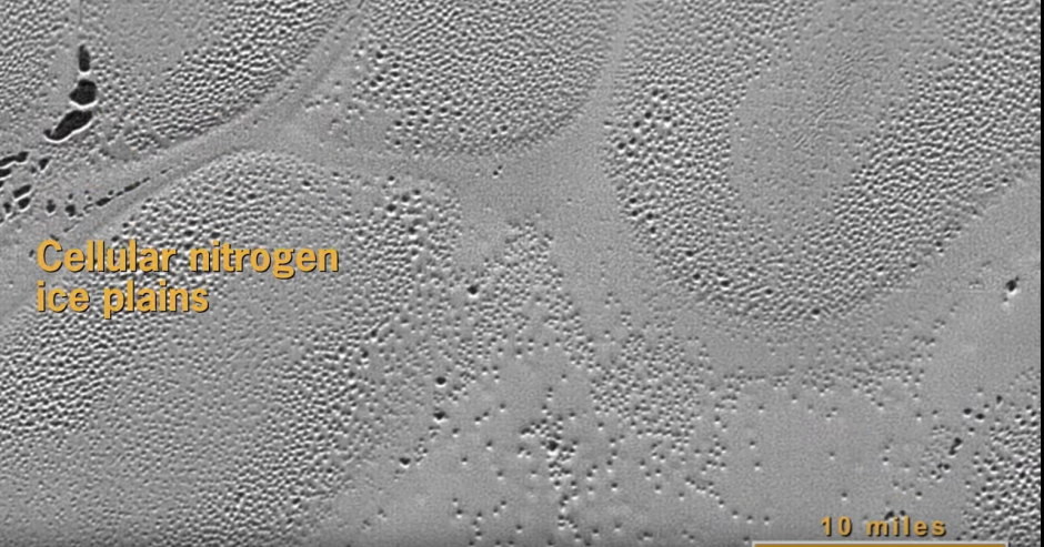 La cámara termográfica de la New Horizons captó las imágenes desde 15 mil 850 kilómetros de distancia. (Captura de pantalla: NASA.gov Video/YouTube)