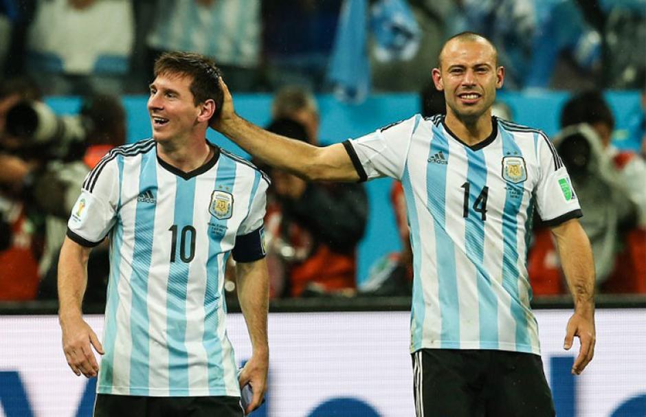Messi y Mascherano foto