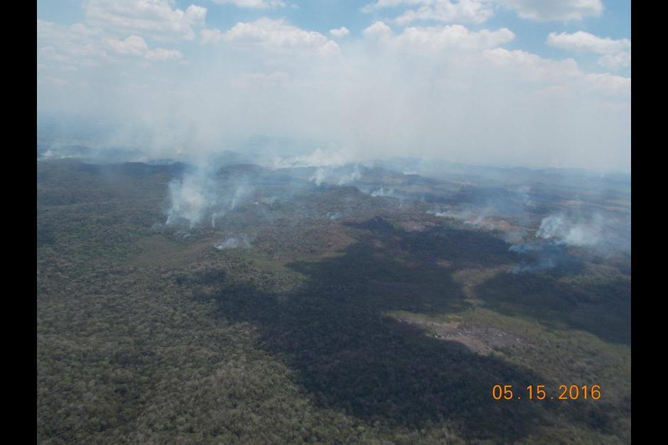 Hasta el momento se han registrado 164 incendios en Petén. (Foto: Cortesia de Matilde Ivic)