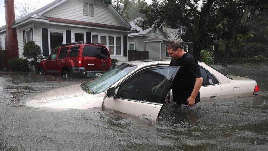 El nivel de agua en St Augustine, Florida, superó los 50 centímetros. (Foto: lanacion.com.ar)