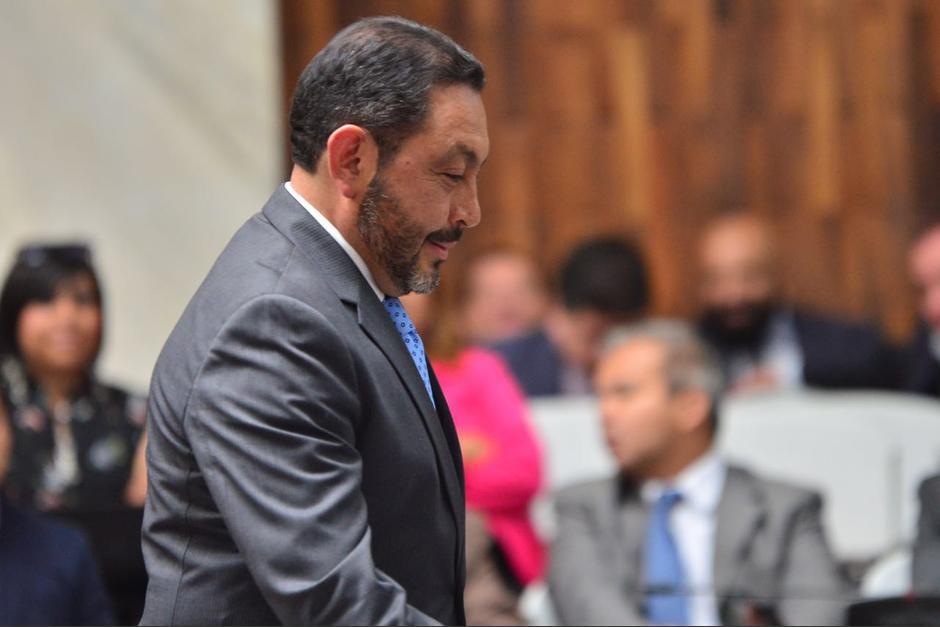 Mauricio López Bonilla ofreció su primera declaración en el caso Cooptación del Estado. (Foto: Jesús Alfonso/Soy502)
