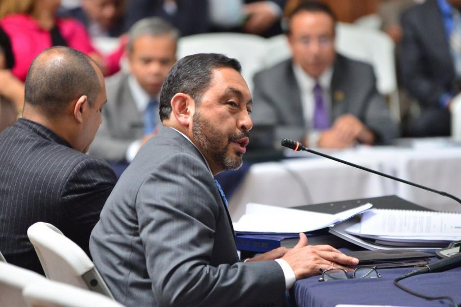 Mauricio López Bonilla rechazó los señalamientos del MP. (Foto: Jesús Alfonso/Soy502)