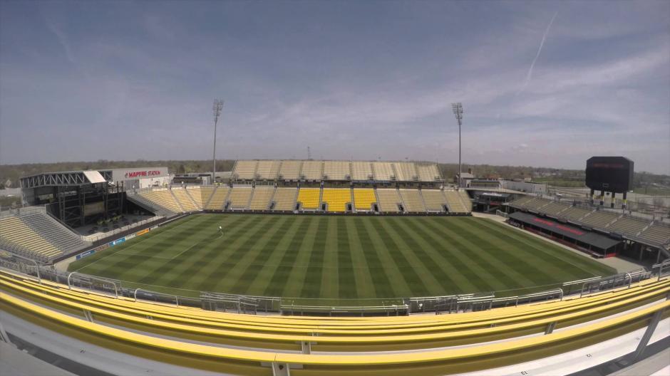 Vista panorámica del Mafpre Stadium de Columbus Ohio.