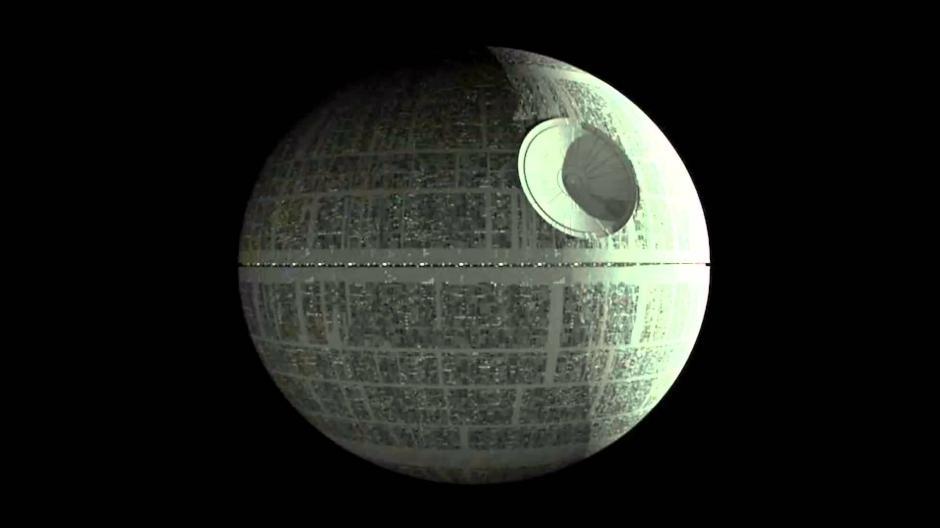 """La Estrella de la Muerte de la película """"Star Wars"""". (Imagen: YouTube)"""