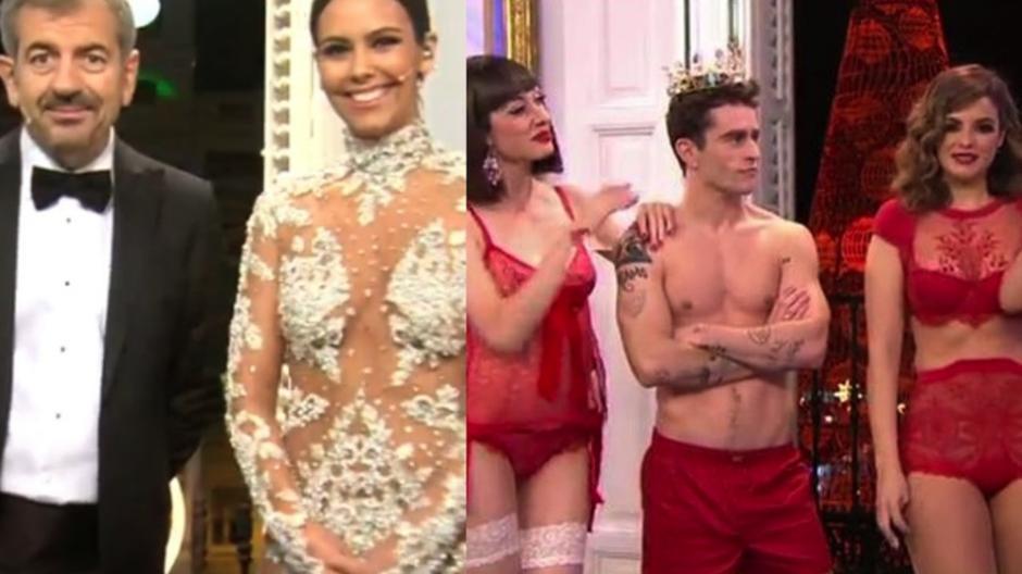 """Pedroche no fue la única, presentadores de otros canales optaron por lucir los tradicionales """"calzones rojos"""" para atraer el amor, en pleno programa de televisión. (Foto: Youtube)"""