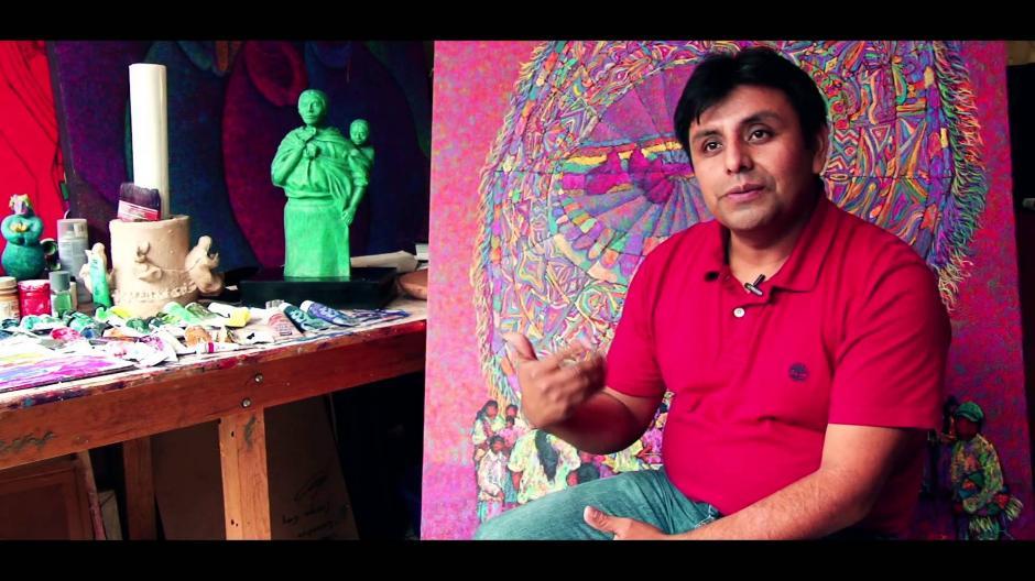 Enrique Cay es el encargado de mostrar el arte que cada 1 de noviembre se aprecia en Guatemala. (Foto: Enrique Cay)