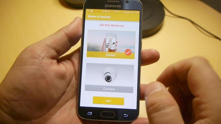 Una simple aplicación puede convertir tu teléfono en una cámara de seguridad o un monitor para el cuarto de tu bebé