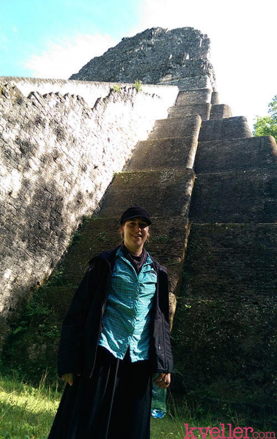Estuvo en los lugares más emblemáticos de Guatemala. (Foto: Mayim Bialik)