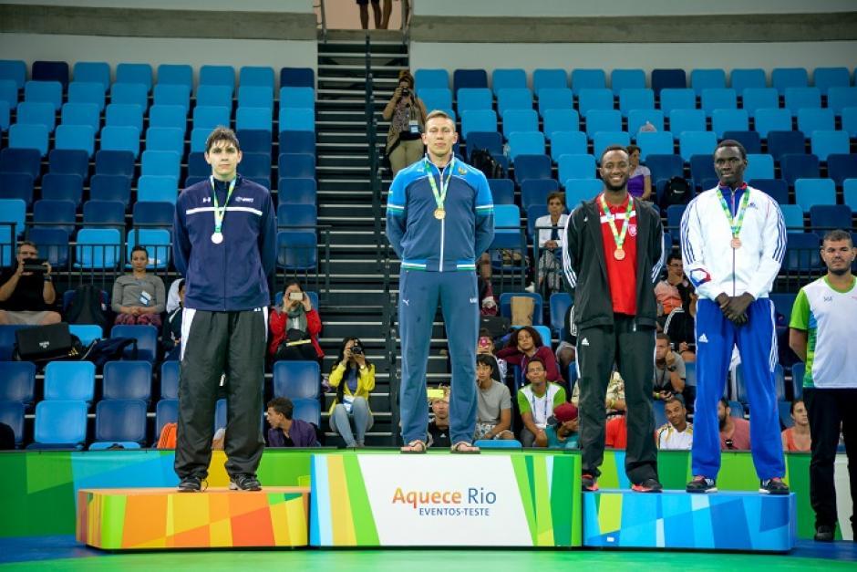 Es notoria la felicidad del atleta que obtuvo la medalla de bronce. (Foto: rio2016.com)