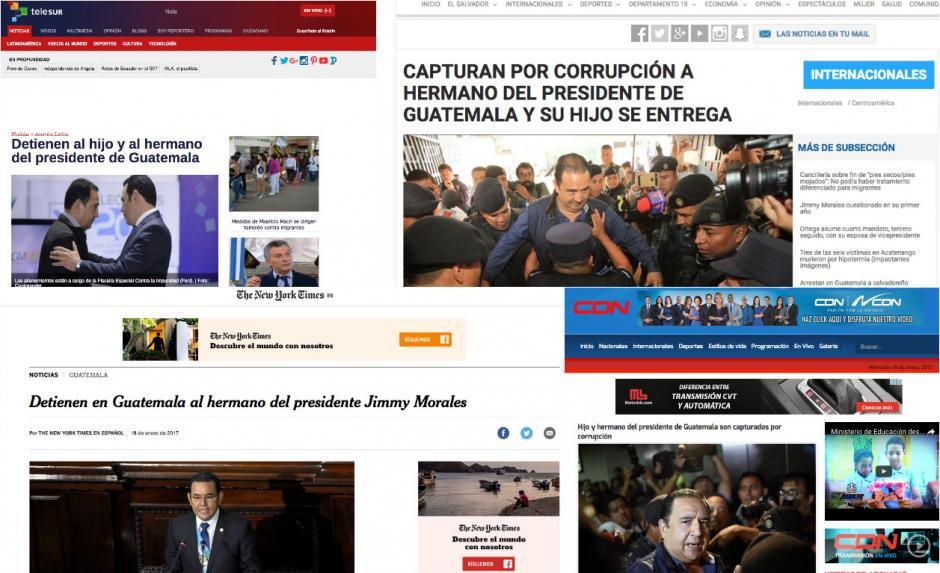 Así cubrieron los medios internacionales la captura de los familiares de Jimmy Morales. (Foto: Soy502)