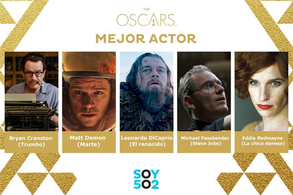Los nominados a mejor Actor 2016.