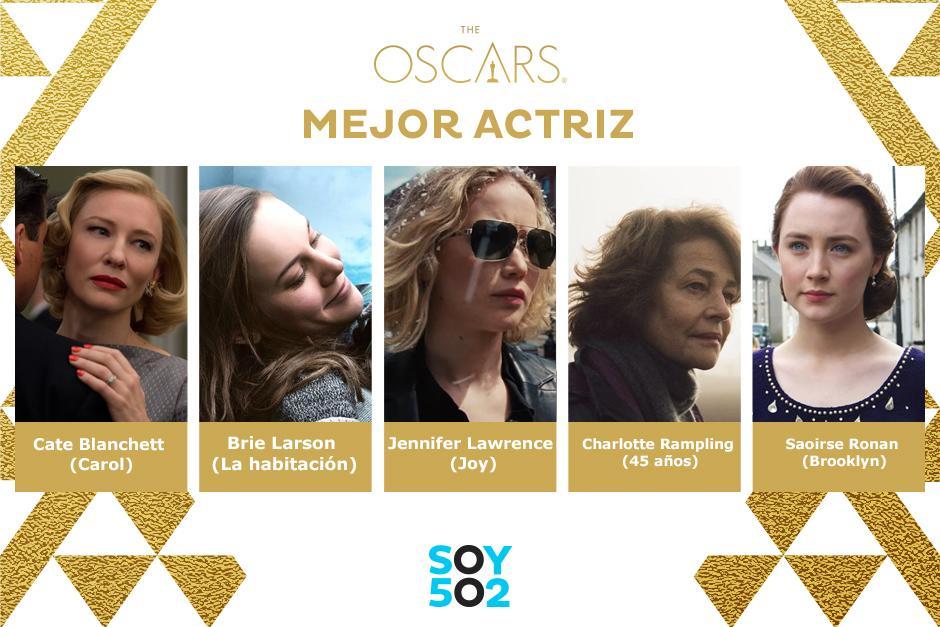 Ellas son las nominadas a Mejor Actriz 2016.