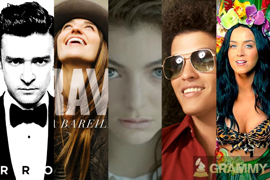 """Y los nominados a mejor canción pop de un solo artista son:""""Mirrors"""" - Justin Timberlake,""""Brave"""" - Sara Bareilles,""""Royals"""" - Lorde,""""When I Was Your Man"""" - Bruno Mars y """"Roar"""" - Katy Perry."""