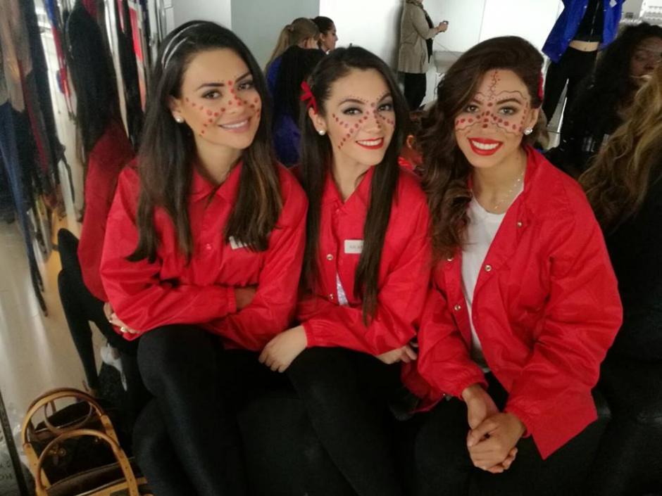 Espina comparte con sus compañeras en el proceso de Miss Mundo. (Foto: Miss World Guatemala)