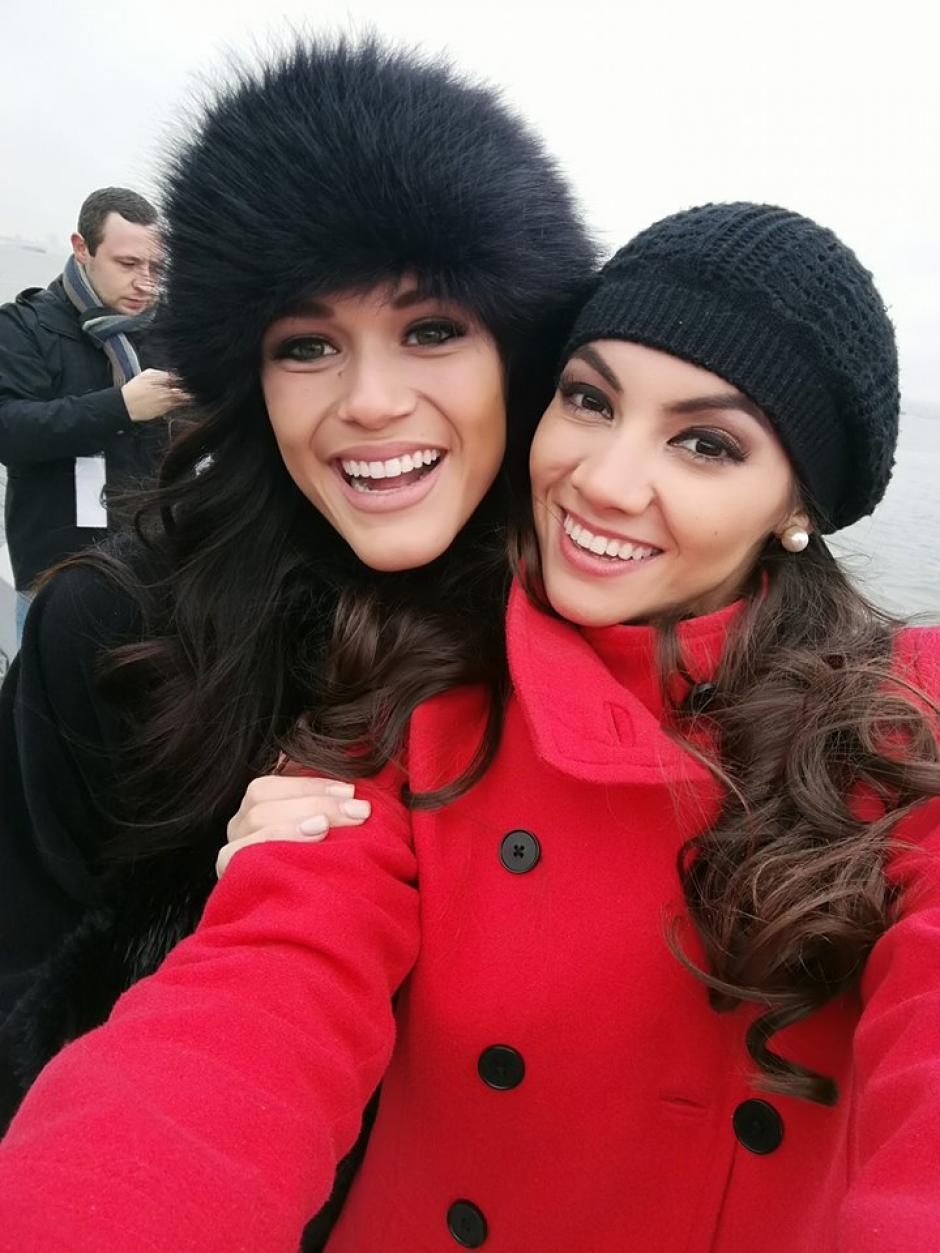 Espina ha hecho buenas amigas en el proceso. (Foto: Miss World guatemala. (Foto: Miss World Guatemala)