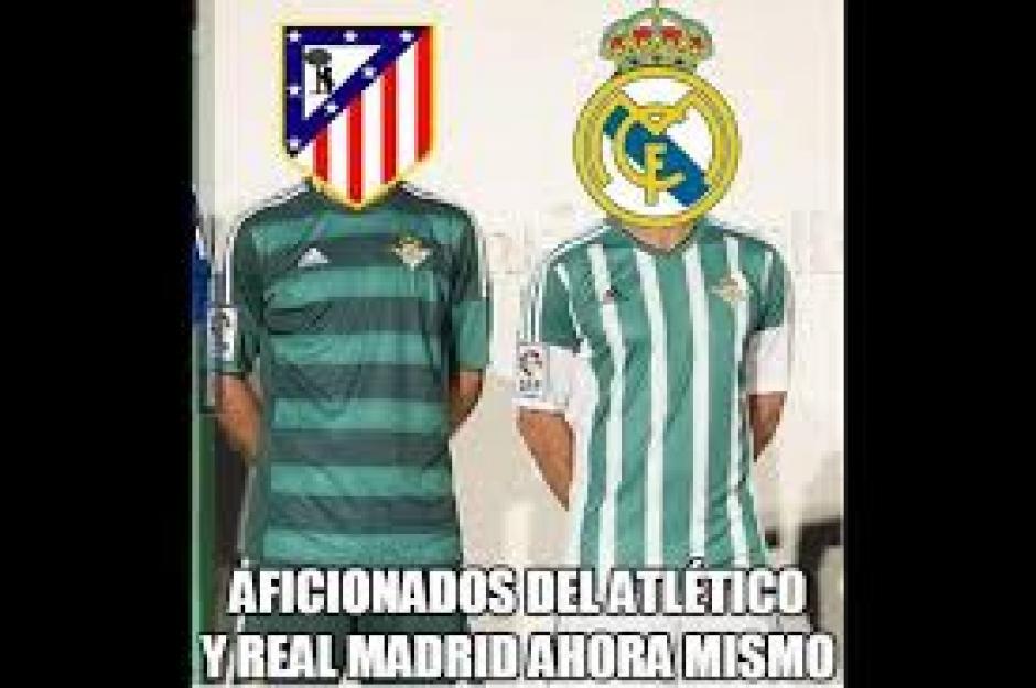 """Los seguidores del Atlético y Real Madrid se """"pusieron"""" la camisa del Betis. (Foto: Twitter)"""