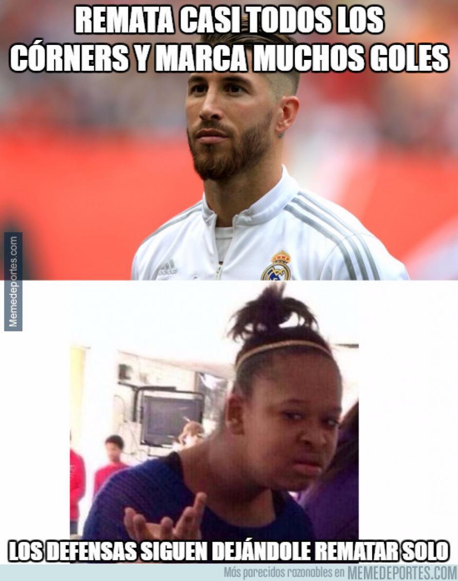 Ramos hizo su anotación número 68 con la camiseta del Real Madrid. (Imagen: memedeportes.com)
