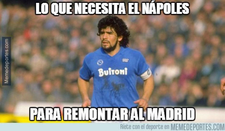 Los internautas citaron a míticos jugadores del Napoli durante el juego. (Imagen: memedeportes.com)