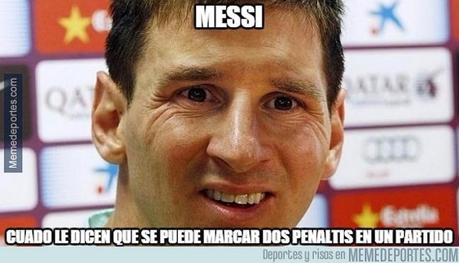 Messi falló un penal de dos que tuvo este domingo ante el Levante. (Foto: MemeDeportes.com)