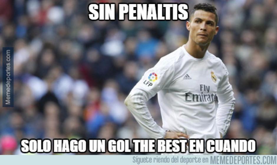Cristiano Ronaldo no puede faltar en los memes cuando juega el Real Madrid. (Imagen: memedeportes.com)