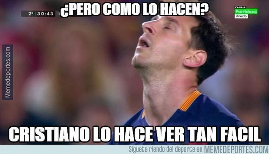 Los goles de Cristiano Ronaldo que realiza de penal fueron el referente de los memes. (Foto: Memedeportes.com)